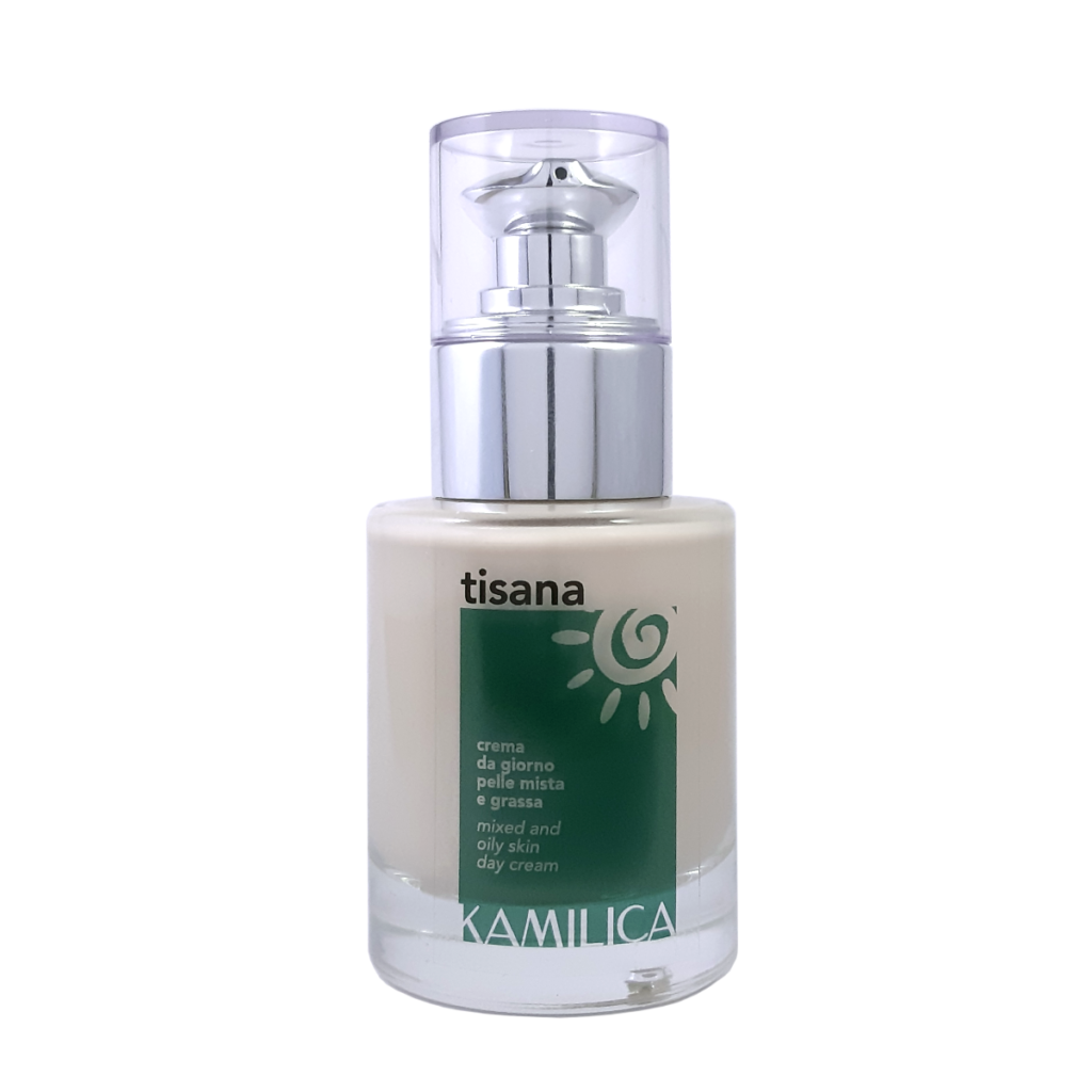 Tisana moisturizing and opacifying cream specific for mixed, oily, impure or acne-prone skin.
